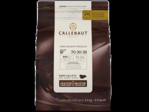 Callebaut, 70-30-38 горький шоколад 70,5% пакет 2,5 кг