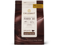 Callebaut, Power 80 экстра горький шоколад 80% пакет 2,5 кг
