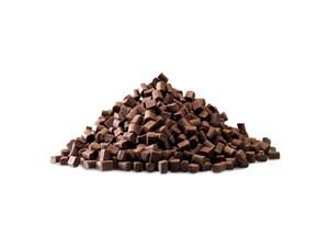 Callebaut, термостабильный темный шоколад 8х8х6мм, коробка 10 кг