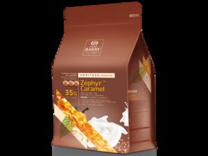Cacao Barry, Zephyr Caramel белый шоколад со вкусом соленой карамели, пакет 2,5 кг