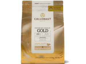 "Callebaut, ""Голд"" белый карамельный шоколад, пакет 2,5 кг"