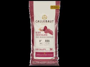 """Callebaut, RB1 """"Руби"""" шоколад, пакет 10 кг"""