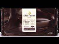 Callebaut, темный шоколад без сахара 54% блоки 5 кг