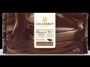 Callebaut, молочный шоколад без сахара 34% блоки 5 кг