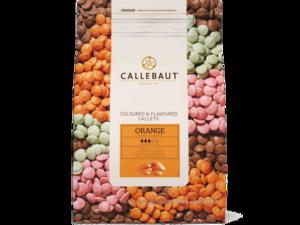 """Callebaut, """"Апельсин"""" цветной апельсиновый шоколад, пакет 2,5 кг"""