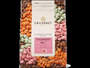 """Callebaut, """"Клубника"""" цветной клубничный шоколад, пакет 2,5 кг"""